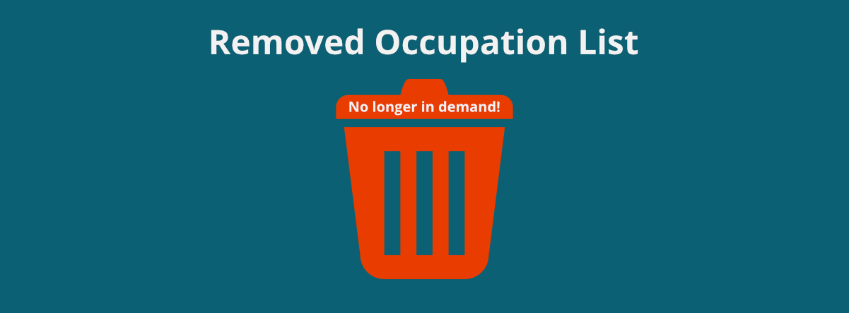 List of Removed Occupations – 19 April 2017 Announcement